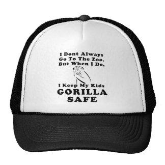Keep Kids Gorilla Safe (solid) Trucker Hat