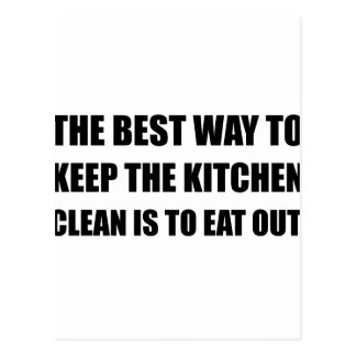 Keep Kitchen Clean Eat Out Postcard