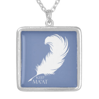 Keep Ma'at Silver Plated Necklace