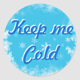 Keep me cold food sticker