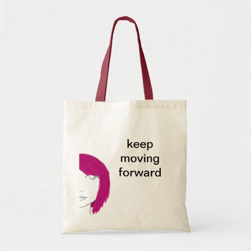 keep moving forward canvas bags