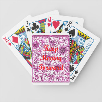 Keep Moving Forward Bicycle Playing Cards