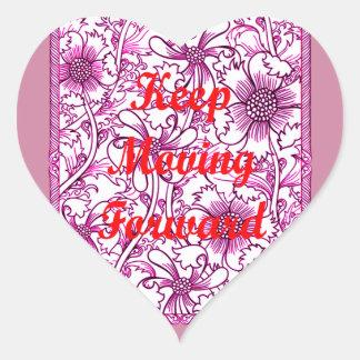 Keep Moving Forward Heart Sticker