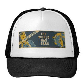 Keep Mum The World Has Ears Trucker Hat