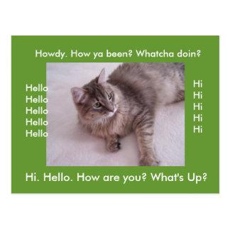 Keep N touch Hi Card Post Cards