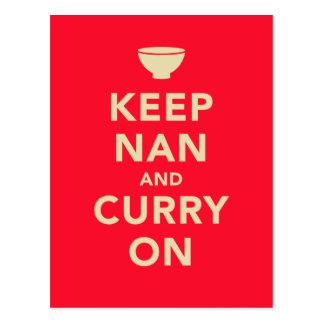 'Keep Nan and Curry On' Parody Postcard