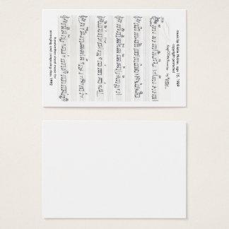 Keep of the Promise Handwritten Sheet Music Business Card