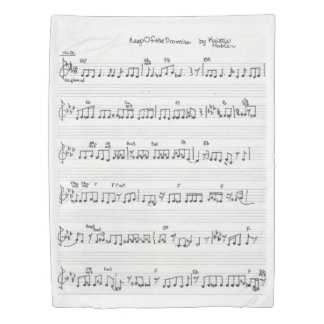 Keep of the Promise Sheet Music Song duvet cover