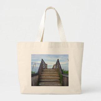 Keep Off Dunes Large Tote Bag