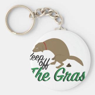 Keep Off Grass Basic Round Button Keychain