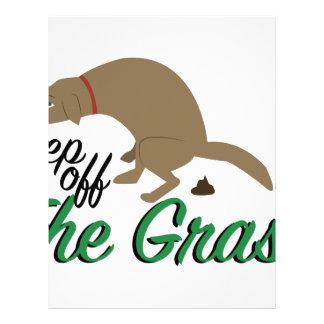 Keep Off Grass Letterhead Design