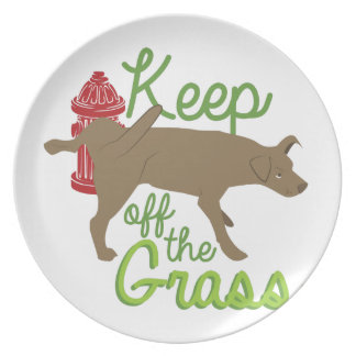 Keep Off Grass Party Plates