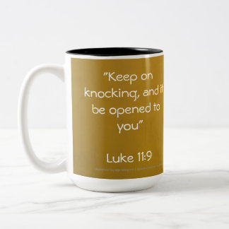 Keep on Knocking (mug) Two-Tone Coffee Mug
