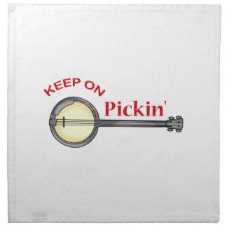 KEEP ON PICKIN NAPKIN