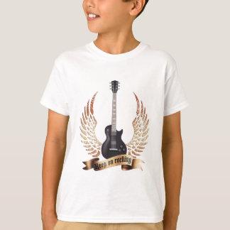 keep on rocking electric guitar wings T-Shirt