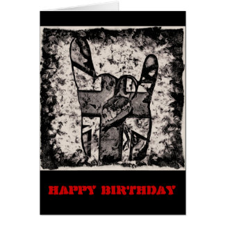 heavy metal sign cards, photocards, invitations  more, Birthday card