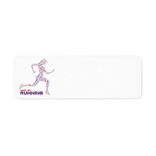 Keep on running return address label