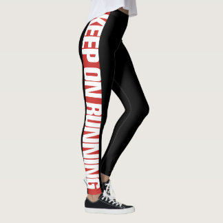 """Keep On Running"" Side Stripe Leggings 2"