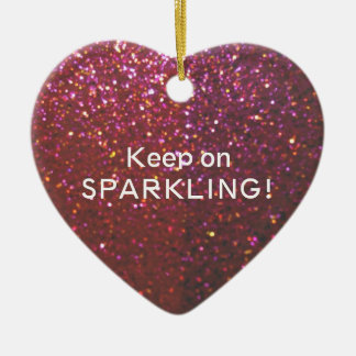 Keep on Sparkling - Glam faux glitter & sparkle Ceramic Ornament