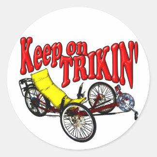 Keep On Trikin' Round Sticker