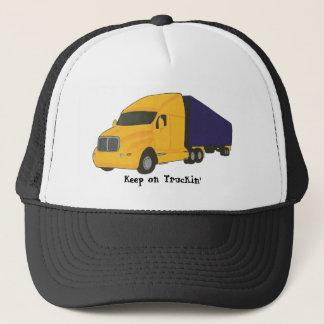 Keep on Truckin', tractor trailer truck on hats