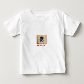 keep out posted sign baby T-Shirt