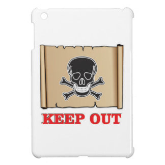 keep out posted sign iPad mini case