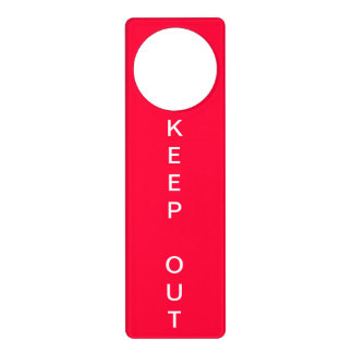 Keep Out Sign Door Hanger