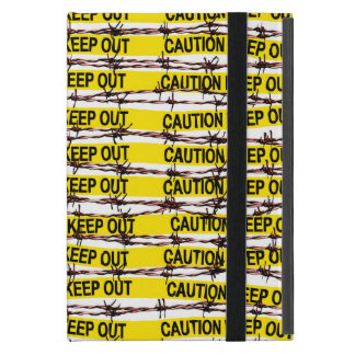 Keep Out! Yellow Tape and Barbed Wire Cover For iPad Mini