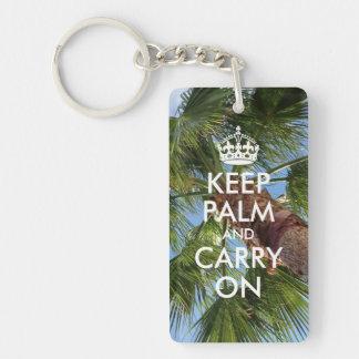 Keep Palm and Carry On Keychain