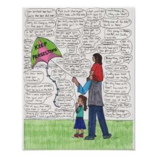 Keep Persisting (Dads) 11x14 Poster