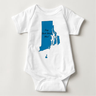 Keep Rhode Island Blue! Democratic Pride! Baby Bodysuit