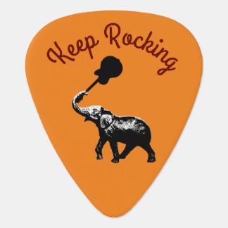 keep rocking, elephant & music, cool guitar pick
