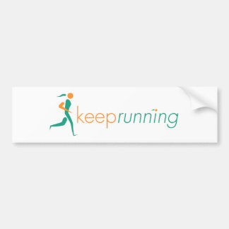 Keep Running Sticker Bumper Sticker