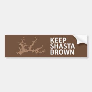Keep Shasta Brown Bumper Sticker