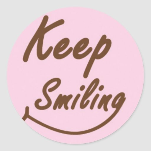 Keep Smiling in Brown and Pink Stickers