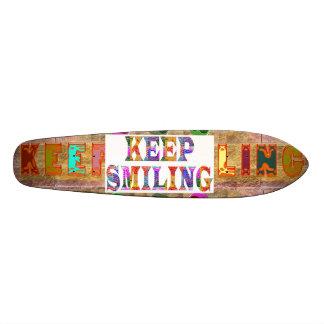 KEEP SMILING SKATE BOARD DECKS
