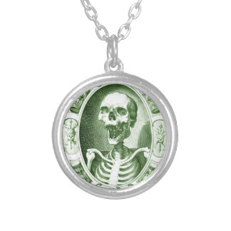 keep smiling your are not dead yet silver plated necklace