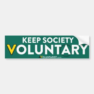 Keep Society Voluntary Bumper Sticker