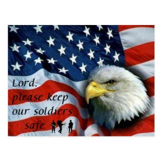 Keep Soldier Safe Postcard