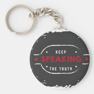 keep speaking the truth basic round button keychain