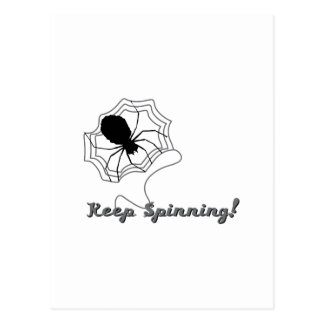 Keep Spinning Postcard