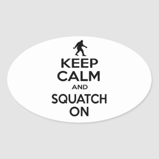 Keep Squatchin' Oval Sticker