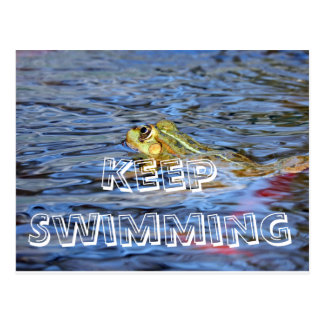Keep Swimming -  Dont give up Postcard