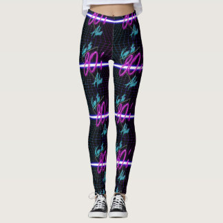 Keep The 80'S Alive Neon Colors Leggings