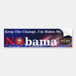 """Keep the Change"" Bumper Sticker"