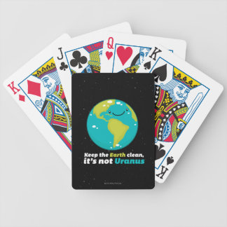Keep The Earth Clean Bicycle Playing Cards