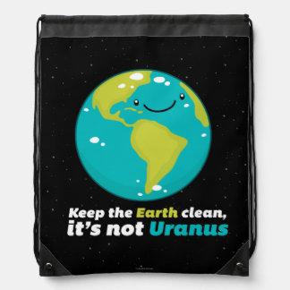 Keep The Earth Clean Drawstring Bag