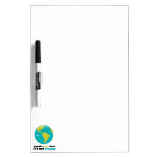 Keep The Earth Clean Dry Erase Board