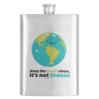 Keep The Earth Clean Hip Flask